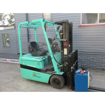 Mitsubishi 1.6 ton Container Mast, Electric Used Forklift #1572